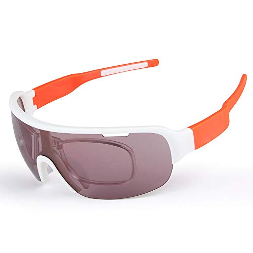 ANLD Polarized Sports Sunglasses for Men and Women, 5 Interchangeable Lenses,Suitable for Cycling, Fishing, Running, Driving, Golf, Baseball, Outdoor Activities,Orange