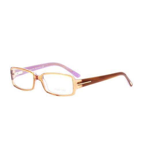 Tom Ford Eyeglasses TF5185 050 Size:53 Transparent Brown/Purple 5185 by Tom Ford