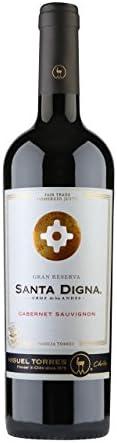Santa Digna Cabernet Sauvignon, Vino Tinto - 6 botellas de 75 cl, Total: 4500 ml