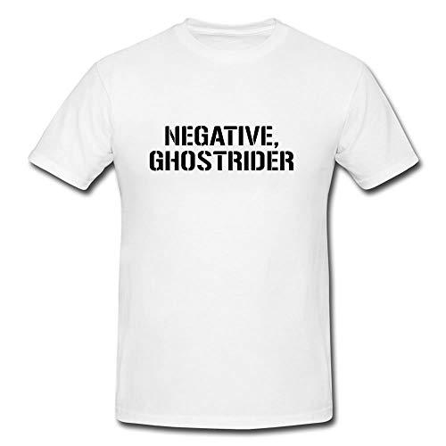 Hashtag Trend Negative Ghostrider T-Shirt - Modern Looking T-Best Best for Men (Medium) White (Rider Adult Vinyl Ghost)