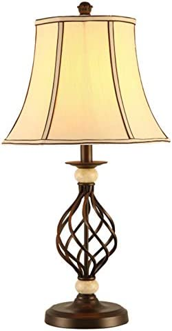 QYRL Lámpara de Mesa, lámpara de Mesa Vintage de Hierro Forjado ...