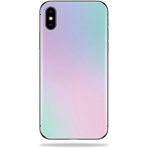 (MightySkins Skin for Apple iPhone X - Cotton Candy   Protective, Durable, and Unique Vinyl Decal wrap Cover   Easy to Apply, Remove, and Change Styles   Made in The USA)