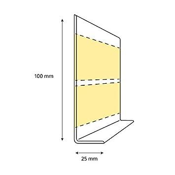 20 m 100x25 mm HOLZBRINK Plinthe Souple Auto-Adh/ésive Blanche Plinthe Cass/ée PVC