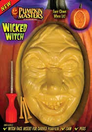 Halloween Witch Faces Pumpkins (Pumpkin Masters Halloween Wicked Witch Pumpkin Carving Kit - Face)
