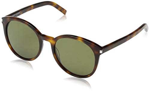 Saint Laurent CLASSIC 6 Sunglasses 003 Havana / Green Lens 54 mm ()