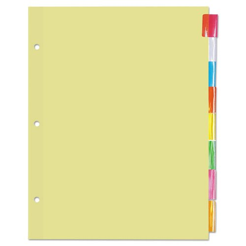 Economical Insertable Index, Multicolor Tabs, 8-Tab, Letter, Buff, 24 Sets/Box, Sold as 1 Box, 24 Set per Box