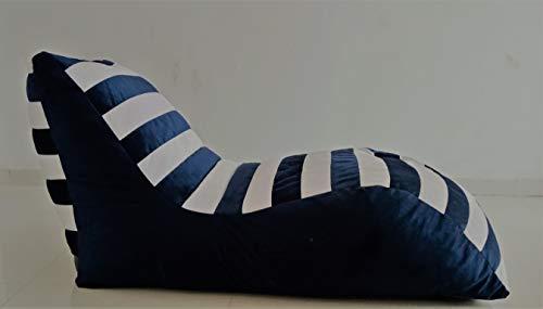 Lounger Bean Bag Blue White sunichoice Bean Bag Sofa Blue Color Bean Bag Chair Blue Color Bean Bag (Cover only)(Suede