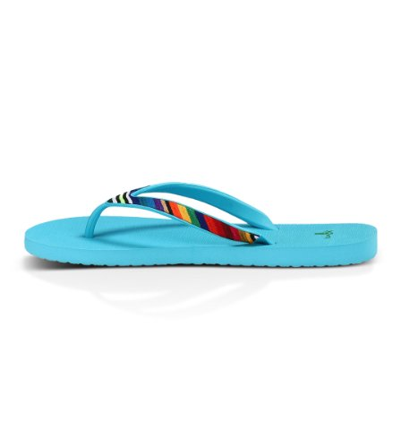 Sanuk Mujer Shimmy Flip-Flop Azul Océano