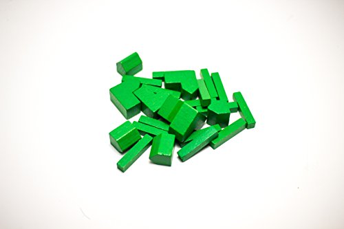 YorksGamePieces Green Wood Replacement Pieces for Settlers of ()
