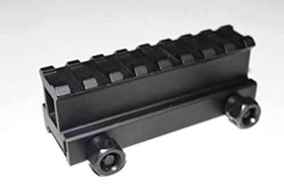 "Acid Tactical® 1"" Inch See-Through Riser High Top Rail Scope Mount - Short Length Hi-Profile"