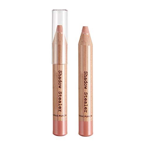 - Powder Eyeshadow in Pencil Form, Non-Crease, Soft Powder, Smooth Gliding, Long-Lasting, Talc-Free, Pink Punch