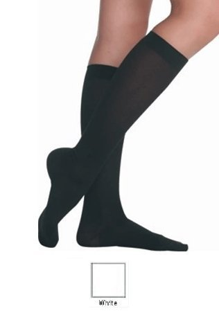 Juzo Soft 2001 Compression Knee High 20-30mmHg (White-Short-2 (II)-Closed Toe) [並行輸入品] B07QS4W2T3