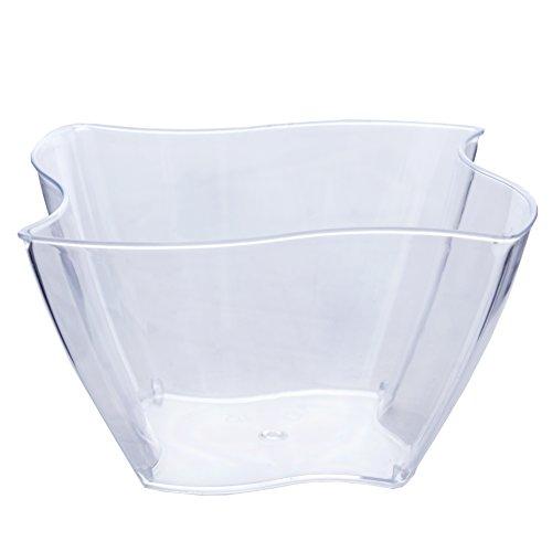 - Efavormart 60 Pcs - Clear Curved Pinwheel 4oz Disposable Plastic Dessert Bowl