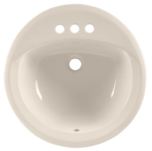 American Standard 0491.019.222 Rondalyn Self Rimming Countertop Sink with 4-Inch Centers and Tapered Edges, Linen ()