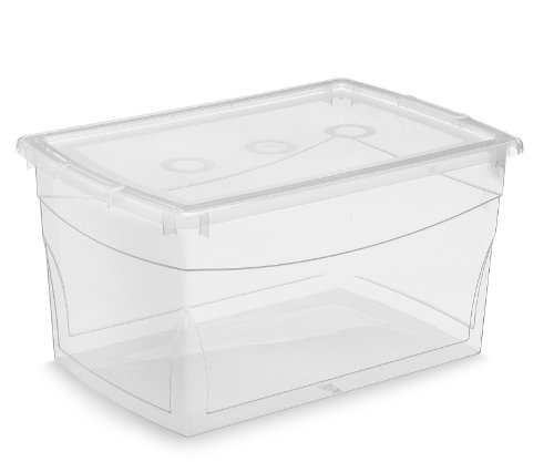 KIS Clear Omni Storage Box , 52-Quart/50-Liter (5-Pack)