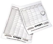 Brand New Badminton Player Records Tournament Scores Knockout Score Sheets