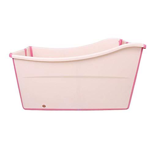 Weylan tec Freestanding Large Foldable Bath Tub Bathtub for Petite Adult Children Baby Toddler Pink