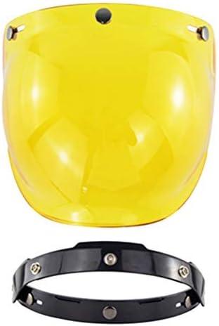 3 Snap Fitment Clear Visor Shield for Open Face Motorcycle Helmets Street Bike Helmet Moggem Universal Retro Bubble Shield Visor