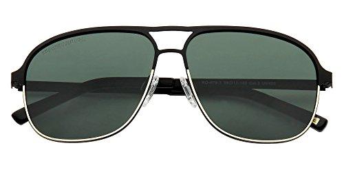calidad Green Sol polarizados Handmade Bird Modelo de Gafas lentes Black alta Kristian Olsen Aviador óptica q6FHz