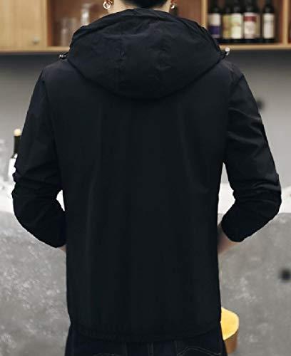 Hooded Outwear Pattern2 Fitted XINHEO Fashionable Jacket Men's Pocket Zipper Oversized qtR0BxzR