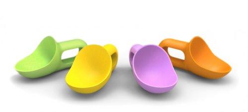 Prepara Super Scooper Kids Ice Cream Scoop, Set of 4 Assorted Colors ()
