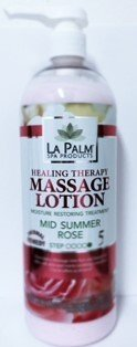 La Palm Massage Lotion, Mid Summer Rose, Healing Therapy, ()