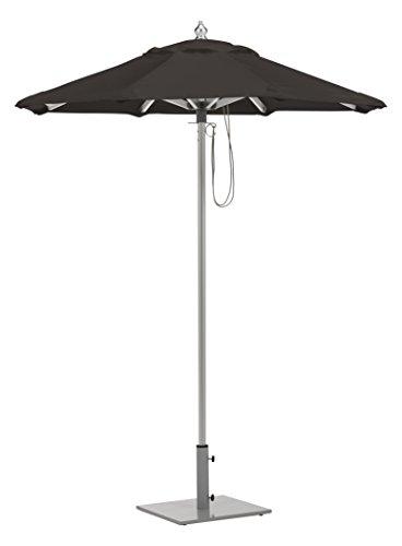 Oxford Garden UA6BK Brushed Aluminum Frame Black Sunbrella Fabric Shade 6′ Octagon Sunbrella Market Umbrella
