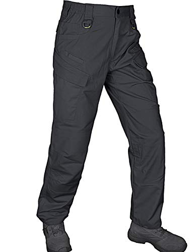HARD LAND Men's Lightweight Tactical Pants Waterproof Ripstop Work Cargo Pants BDU Military Trousers Charcoal Grey Size 34W×32L ()