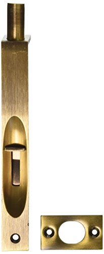 Deltana 6FBS5 HD Square Solid Brass 6-Inch Flush Bolt