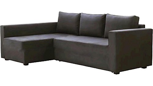 HomeTown Market The Dark Gray Manstad Cover Replacement is Custom Made for IKEA Manstad Sofa Bed, Or Sectional, Or Corner Slipcover. Sofa Cover Only!. (Longer Right Arm)