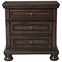 Picket House Furnishings Kingsley Nightstand with USB in Walnut