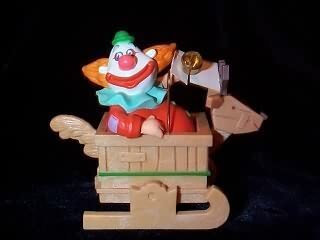 Jingle bell clown Musical 1988 hallmark ornament - Clown Bell