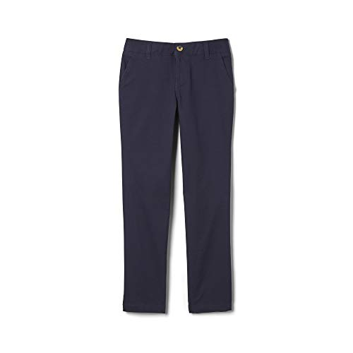 French Toast Girls Plus Size' Stretch Twill Straight Leg Pant, Navy, 12.5