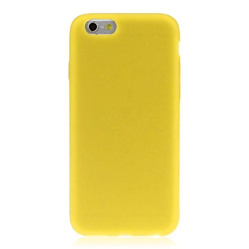 Price comparison product image iPhone 6S Case, [4.7 inch]LUNIWEI Macaron Indie Pop Fresh Color Waterproof Soft Rubber Silicone Skin Case Full Cover (Yellow)