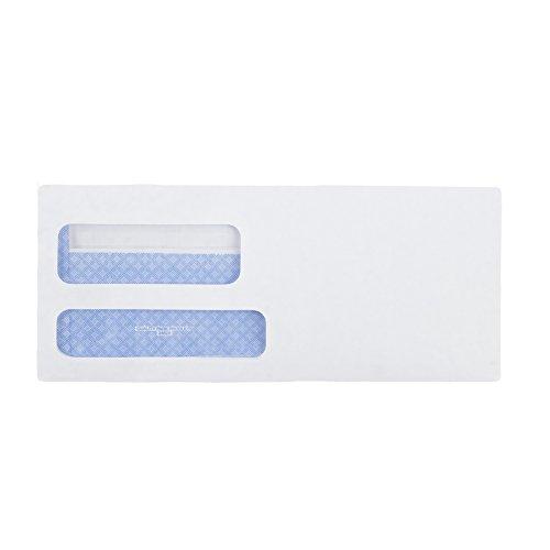 Quality Park #9 Security Envelopes, Double Window, Self Seal, Invoices/QuickBooks Statements, 3-7/8 x 8-7/8 Inches, 24 lb White, 500/Box (QUA24529)