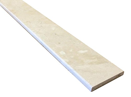 "Crema Marfil Beige Marble Threshold (Marble Saddle) - Polished - (6"" x 48"")"