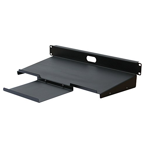 Quest Manufacturing Keyboard Shelf With Reversible Mouse Tray, 1 Unit, 19