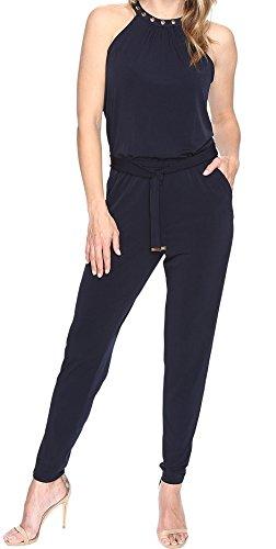 MICHAEL Michael Kors Women's Dome Stud Neck Jumpsuit (XL, New - Michael Kors Free Return