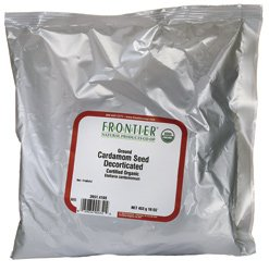 Frontier Herb Organic Bulk Ground Cardamom Seed Powder, 16 Ounce - 1 each. by Frontier (Image #1)