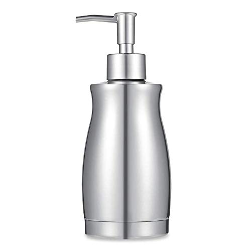 ARKTEK Stainless Steel Countertop Soap Dispenser 13.5 Oz – Rust and Leak Proof Liquid Hand Soap Pump, for Kitchen Sink…