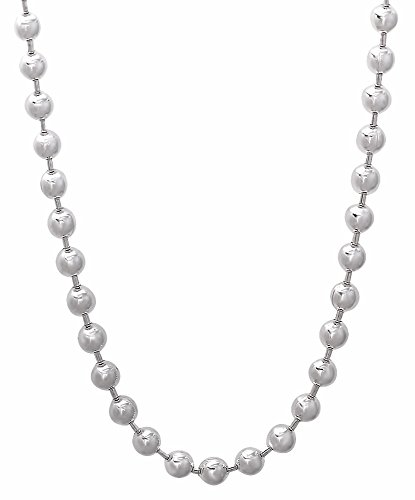 4mm 925 Sterling Silver Nickel-Free Pallini Style Bead Chain, 24