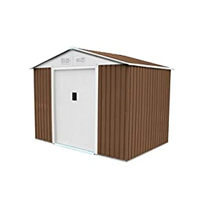 Gardiun-Cambridge-Metal-Garden-Shed-Brown-472-m