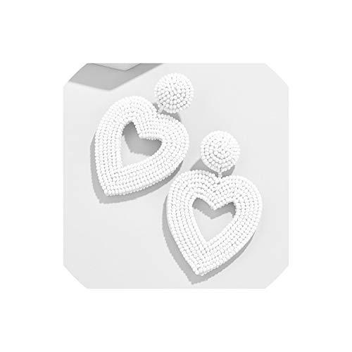 YY Cherry Trendy Handmade Crystal Beaded Drop Earrings Jewelry Earrings For Women Girls Bohemian Wedding Gifts Statement,6