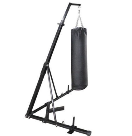 Happybuy Free Standing Boxing Bag Stand Foldable Single Station Heavy Bag Stand for Home (Heavy Bag And Speed Bag Stand)