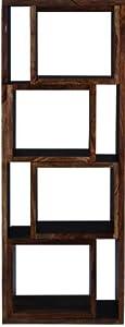 Shilpi Wooden Designer Bookcases and Book Shelves Rack Teak Finish in Brown
