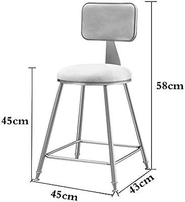 Amazon.com: Silla de bar, taburete nórdico de ocio, silla de ...