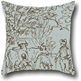 (Throw Pillow Covers 20 X 20 Inches / 50 By 50 Cm(twin Sides) Nice Choice For Girls,living Room,shop,wife,deck Chair,adults Oil Painting Paul Sandby - Landscape With A Milk Maid And)