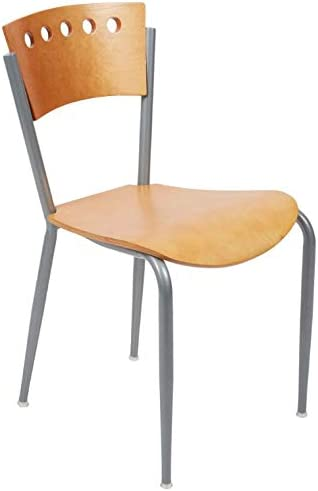 Natural Finish Cafe Chair. Chair for Kitchen, Dining, Bedroom, Living Room Side, Party, Ivents, Banquets.