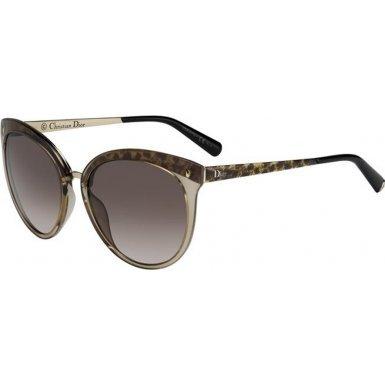 Christian Dior Frozen 1/S Sunglasses Transparent Ort / Brown - 2013 Dior Sunglasses