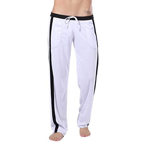 Larghi Uomo Termica Pigiama Intima Biancheria In Pantaloni Per Sleepwear Bianco Cotone M a1ww7q6pSx